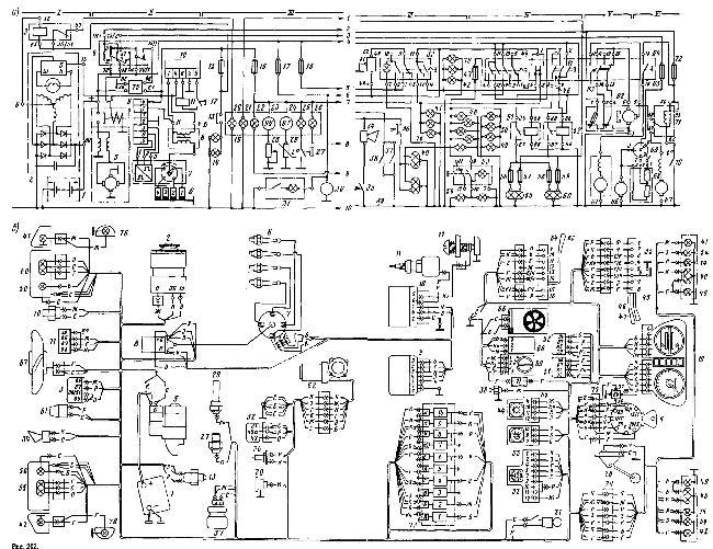 """Принципиальная и монтажная схемы электрооборудования ЗАЗ-1102 """"Таврия"""""""