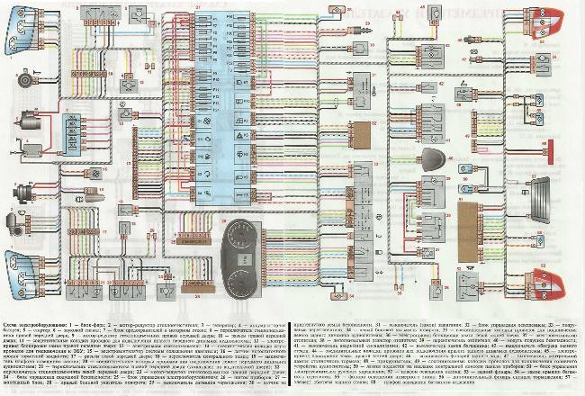 Схема электрооборудования Lada