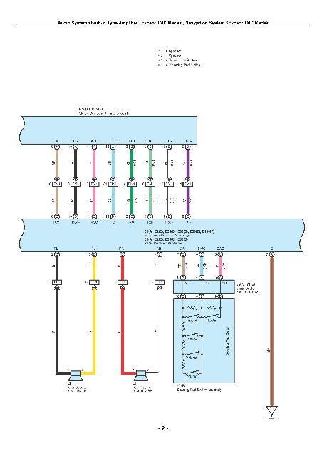 Цветные схемы электрооборудования Toyota Corolla (AZE141 и ZRE142) 2009-2010