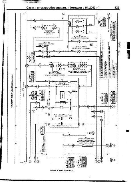 Схемы электрооборудования TOYOTA AVENSIS с 2003