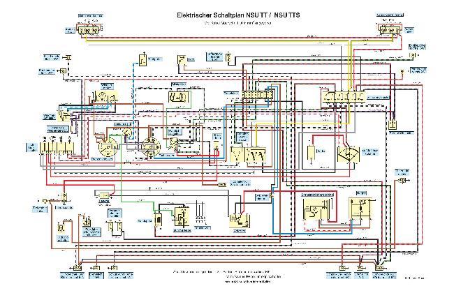 Электрическая схема NSU TT / NSU TTS