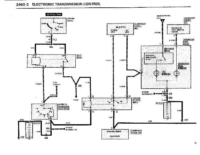 Схемы электрооборудования BMW 7 (E23) 1983-1986