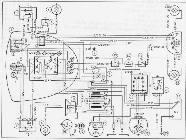 Схема электрооборудования мотоциклов BMW R50/5, R60/5, R75/5