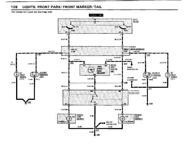 Схемы электрооборудования BMW 5 серии (e28) (528e, 533i, 535i, M5) 1982-1988