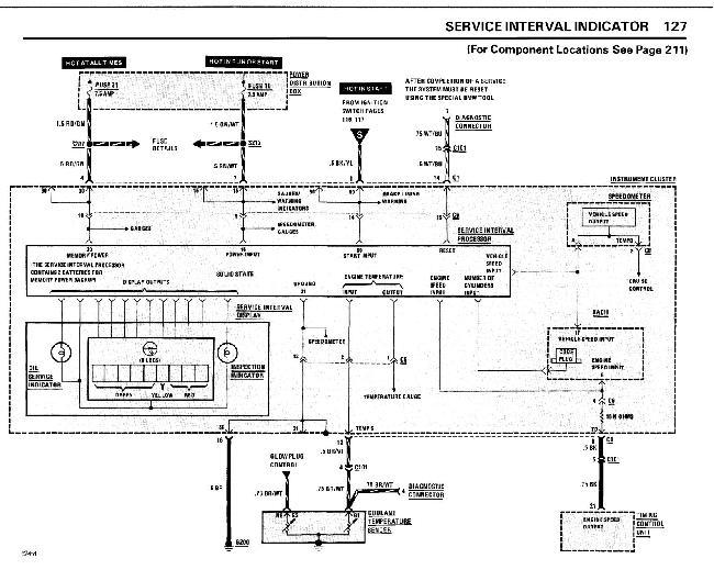 Схемы электрооборудования BMW 5 серии (e28) (524TD) 1985-1986