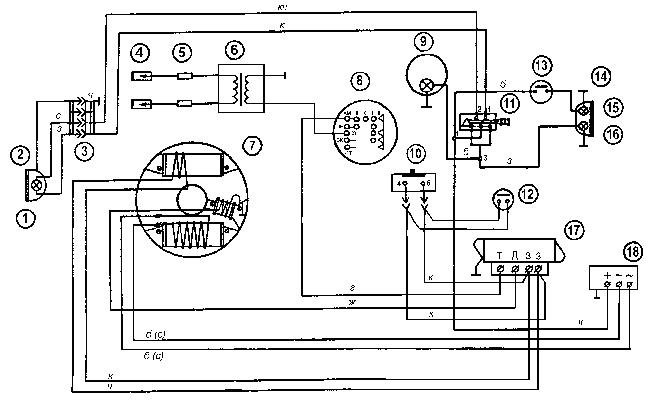 Схема электрооборудования Буран (без электрозапуска)