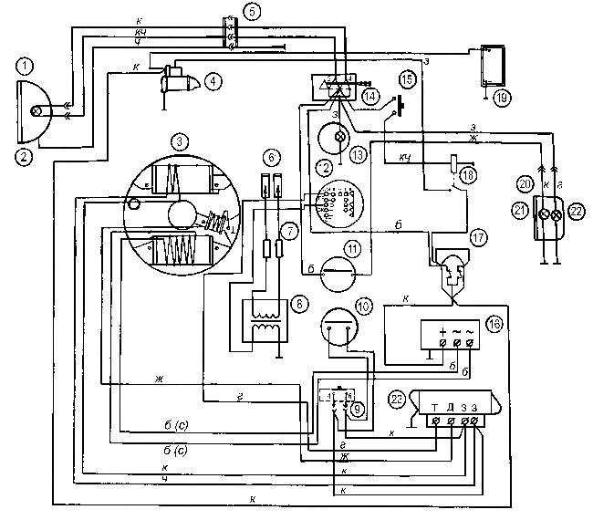 Схема электрооборудования Буран (с электрозапуском)
