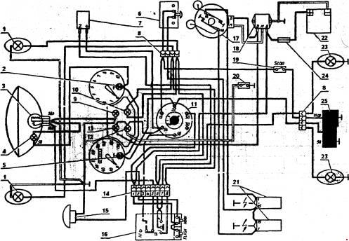 Схема электрооборудования мотоцикла Ява 350 (модели 634)