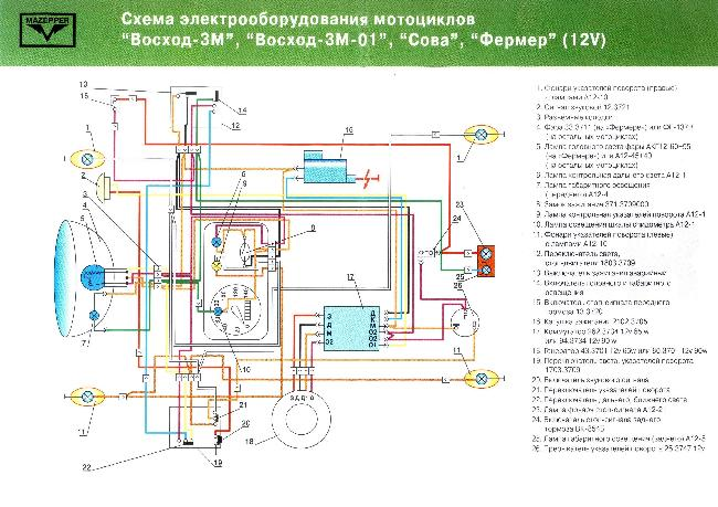 Восход 3м электрическая схема