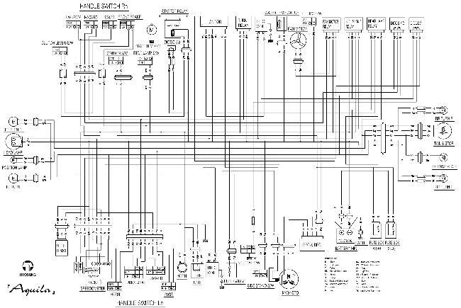 Схема электрооборудования мотоциклов Hyosung GV 650 Aquila