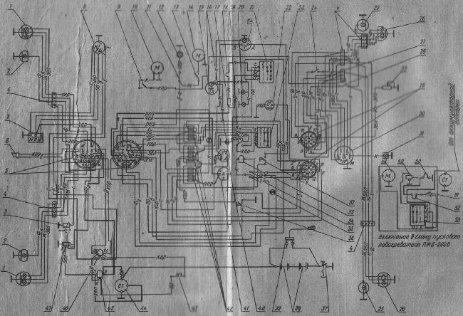 Схема электрооборудования трактора МТЗ-80/82