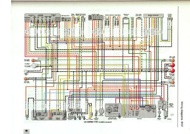 Схема электрооборудования мотоцикла Suzuki Bandit GSF600 Y/SY