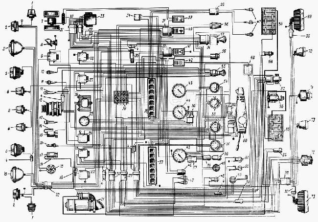Схема электрооборудования ЗИЛ 133ГЯ