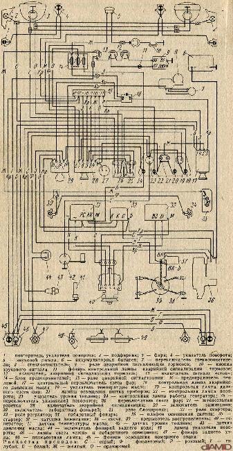 Электрическая схема ЗАЗ 968