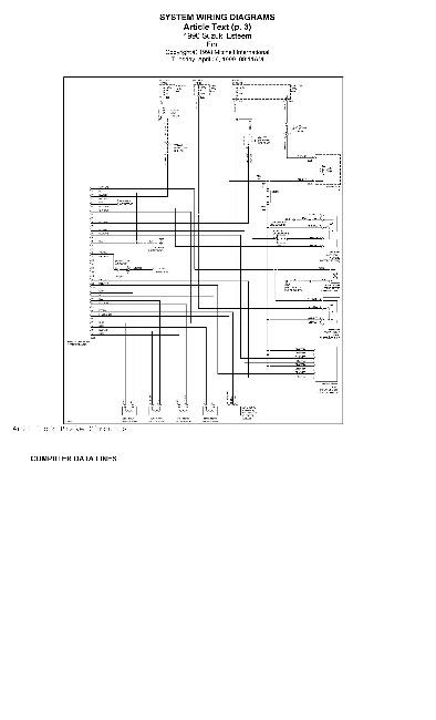 Схема электрооборудования автомобиля Suzuki Baleno / Esteen 1996