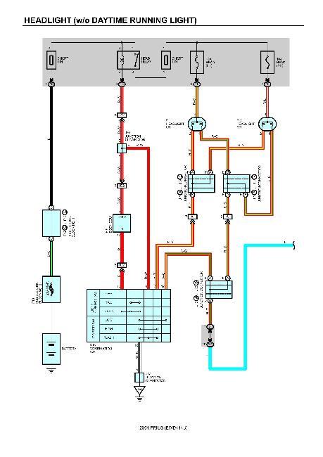 Цветные схемы электрооборудования Toyota Prius 2001