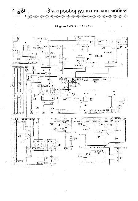 Схема электрооборудования Ford Explorer 1992