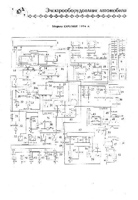Схема электрооборудования Ford Explorer 1994