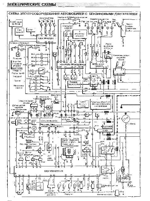 Схемы электрооборудования  Renault Safrane 1992-1996 гг.