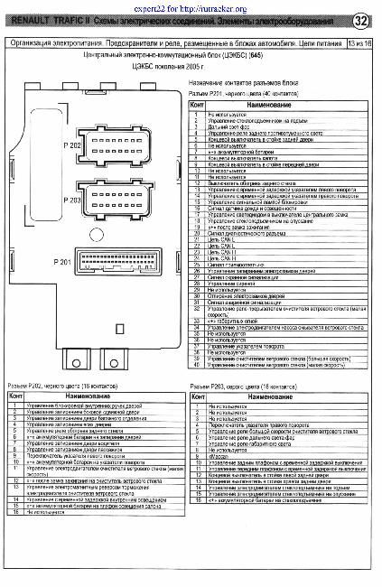 Схема електропроводки ра опель