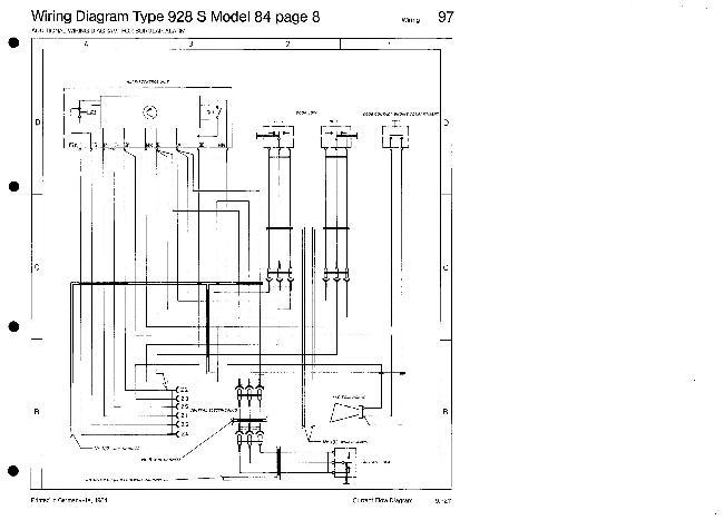 Схемы электрооборудования Porsche 928 S (1984)