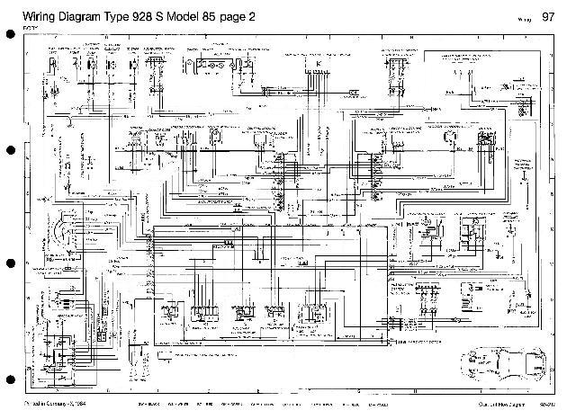 Схемы электрооборудования Porsche 928 S (1985)
