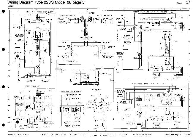 Схемы электрооборудования Porsche 928 S (1986)