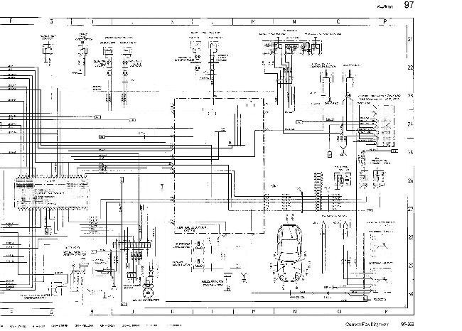 Схемы электрооборудования Porsche 928 S (1987)