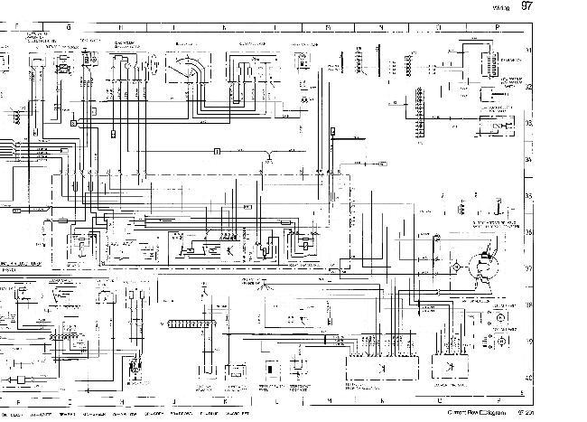 Схемы электрооборудования Porsche 928 S (1988)
