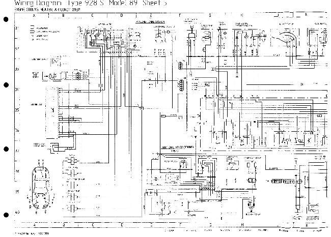 Схемы электрооборудования Porsche 928 S (1989)