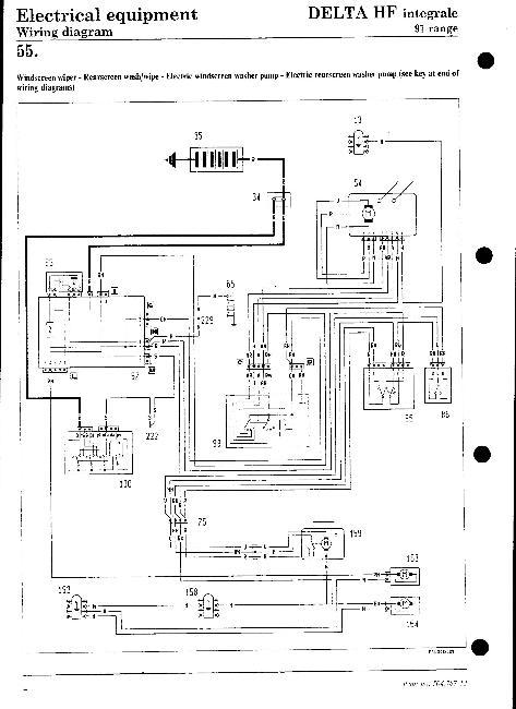 Электрические схемы Lancia Delta HF