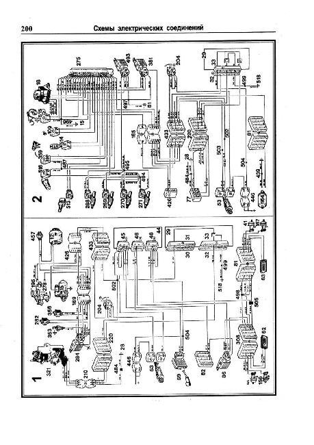 Скачать Схемы электрических соединений Renault 25.