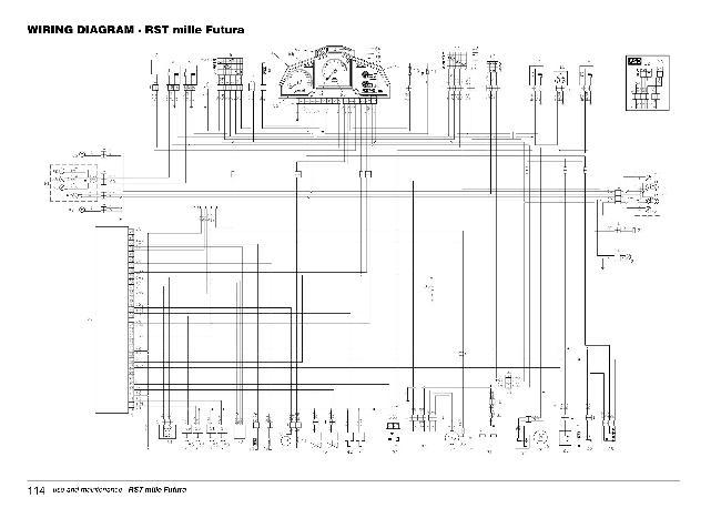 Схема электрооборудования мотоцикла Aprilia RST Mille Futura