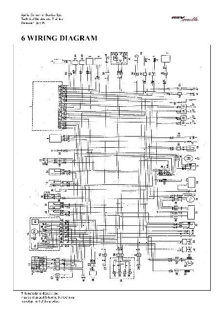 Электрическая схема мотоциклов Aprilia RSV 1000