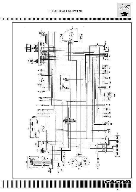 Схема электрооборудования мотоцикла Cagiva Navigator