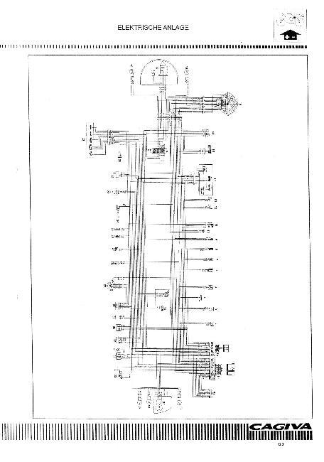 Схема электрооборудования мотоциклов Cagiva Raptor 1000 и Cagiva V-Raptor 1000