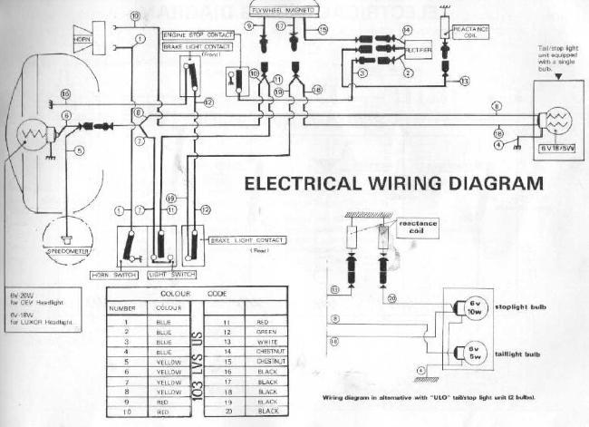 Схема электрооборудования мопеда Peugeot 103