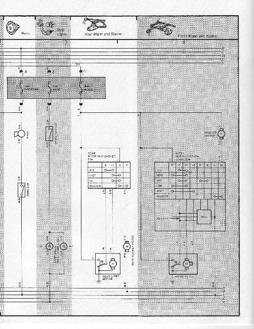 Схемы электрооборудования Toyota Tercel 1985