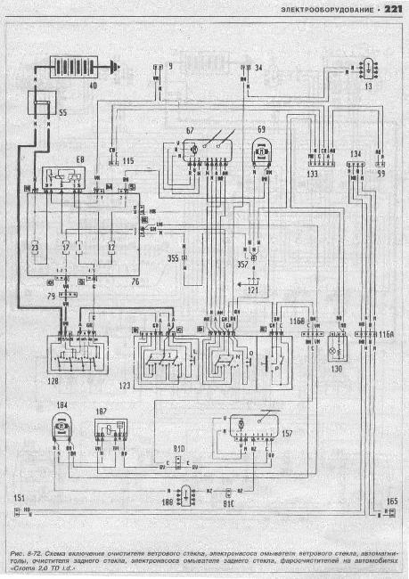 Схемы электрооборудования Fiat Croma 1985-1993