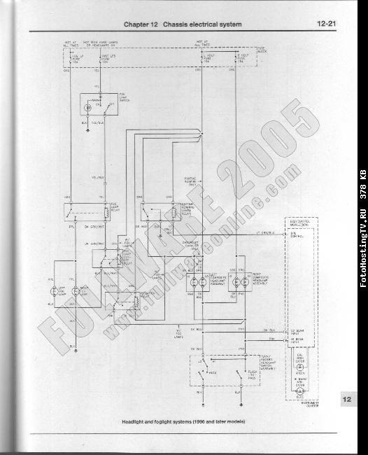 Схемы электрооборудования Chevrolet Cavalier /  Pontiac Sunfire 1995-2001