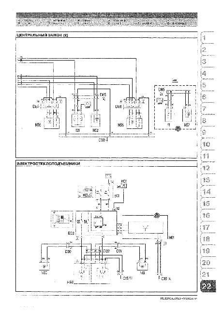 Схемы электрооборудования FIAT DOBLO (PANORAMA, CARGO, MAXI) с 2001 и с 2005