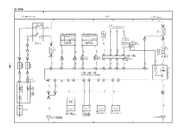 Схемы электрооборудования Toyota RAV4 XA20 с дизельным двигателем 1CD-FTV