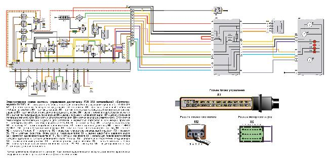 Электрическая схема системы управления двигателем F3R 272 автомобилей «Святогор» модели 21414