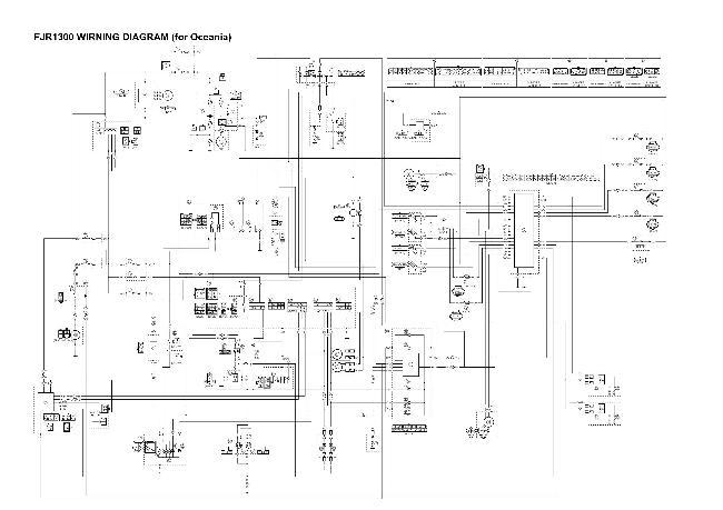 Схема электрооборудования мотоцикла Yamaha FJR1300 (для Океании)