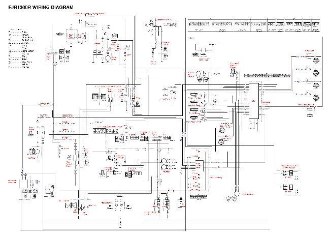 Схема электрооборудования мотоцикла Yamaha FJR1300R