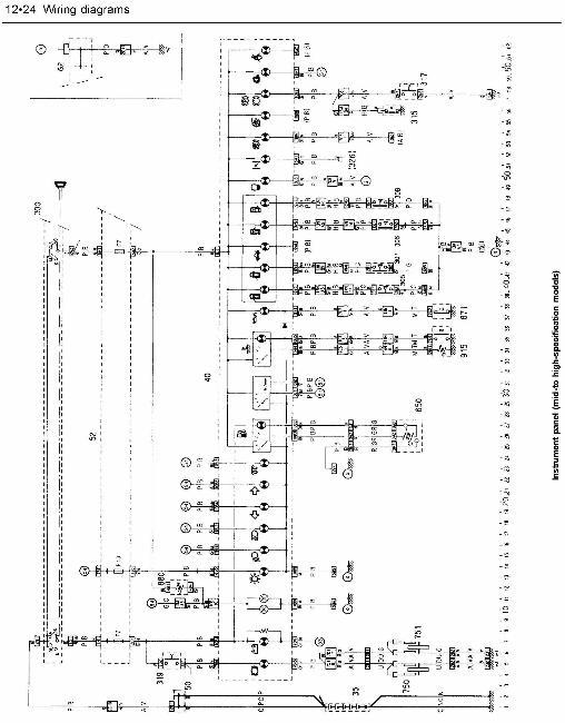 Схемы электрооборудования Citroen ZX 1991-94