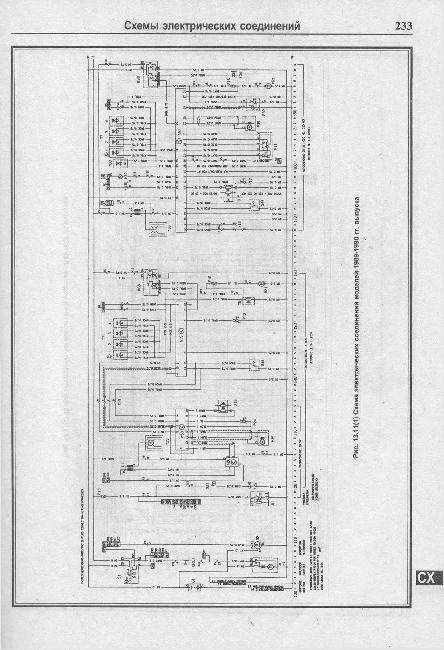 Схемы электрооборудования Opel Omega A 1986-1993