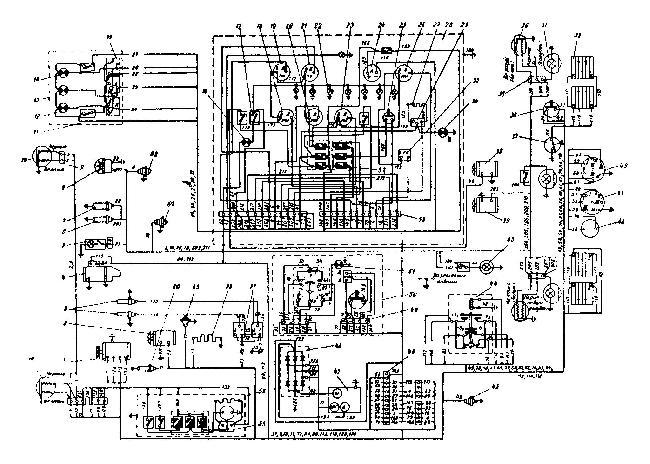 Монтажная схема электрооборудования трактора К-700