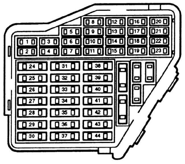 Реле и предохранители Audi A4 B5