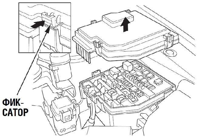 Схема расположения предохранителей автомобилей Honda CR-V 2009 г. выпуска.
